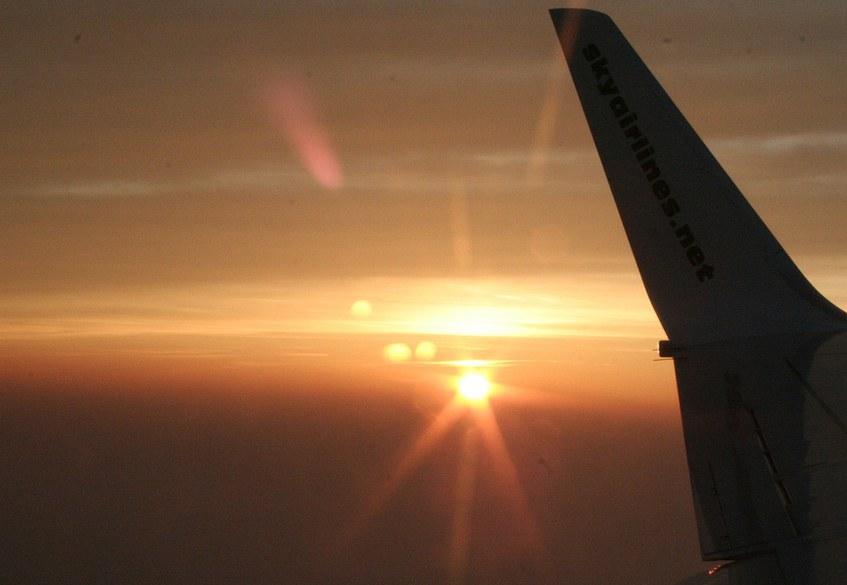 Sunset Fligt View