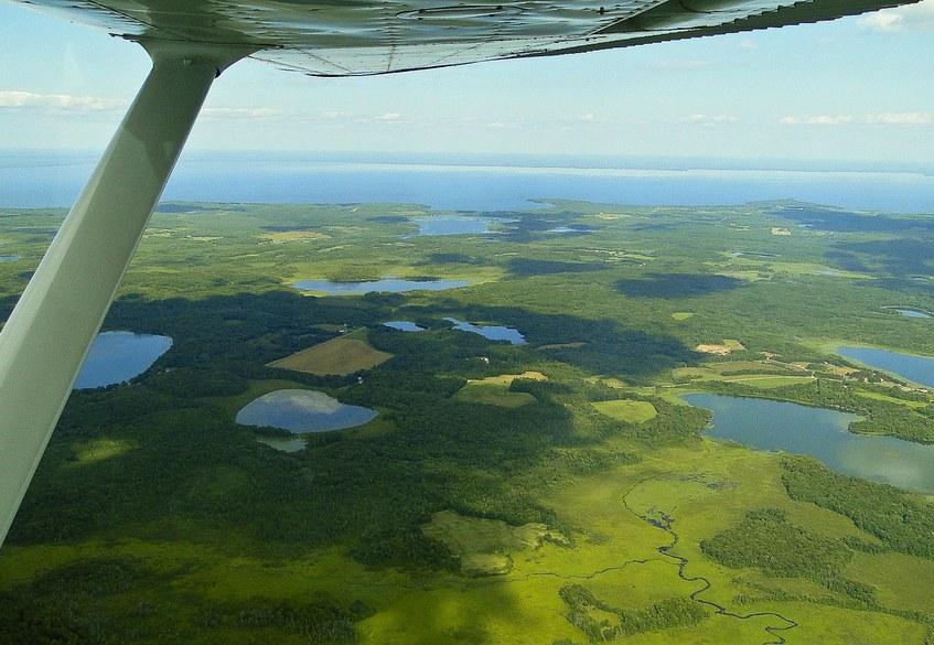 Airplane Landscape View