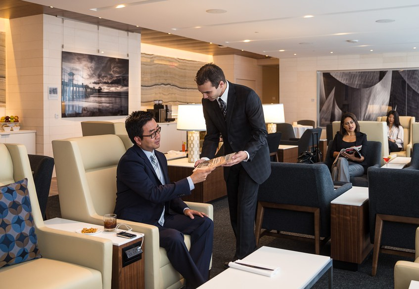 The First Class experience in Star Alliance Lounge LAX