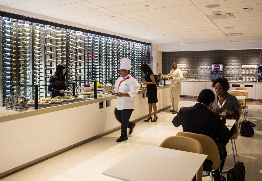 Star Alliance lounge at LAX – Business Class section food