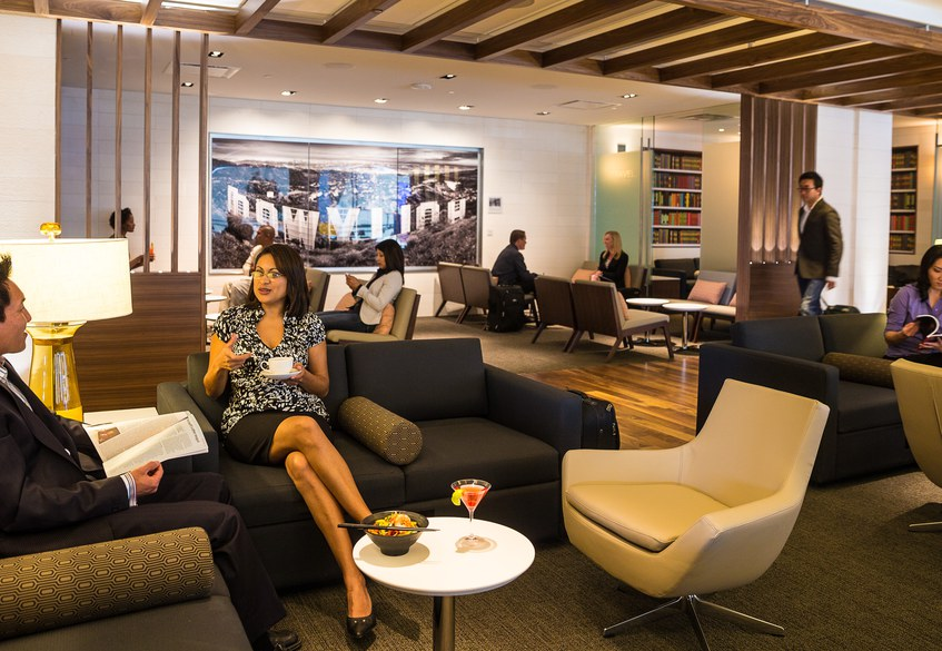 Star Alliance lounge at LAX – Business Class section