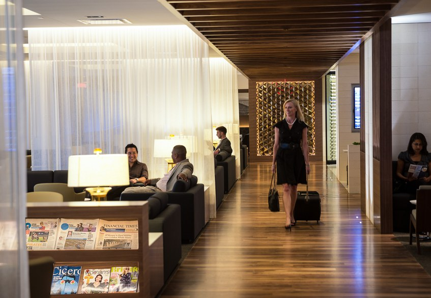 Star Alliance lounge in LAX – Internal overview