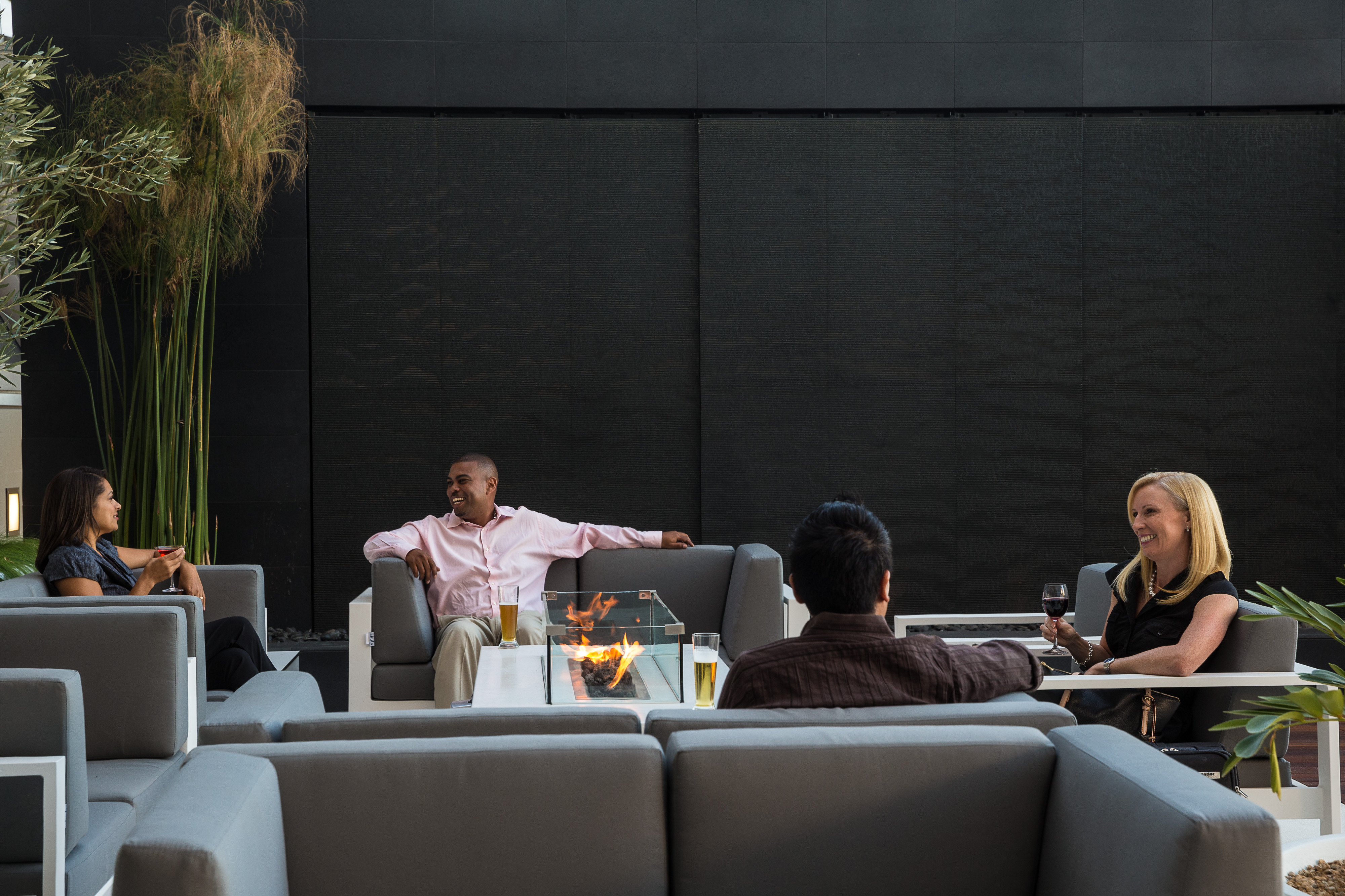 Star Alliance LAX lounge – roof terrace