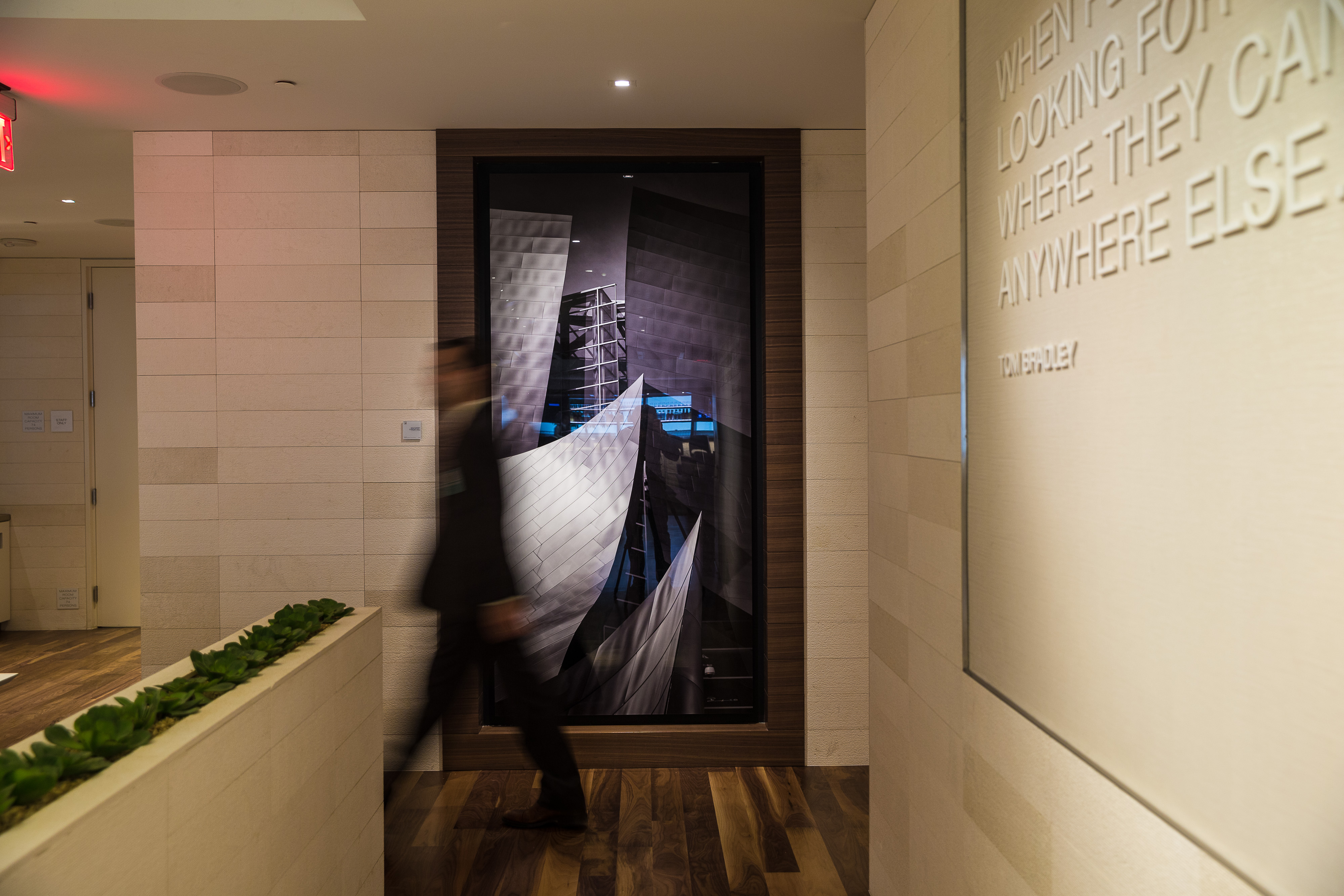Star Alliance LAX lounge  – interior artwork