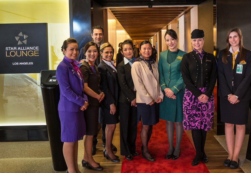 The Star Alliance lounge opening, LAX