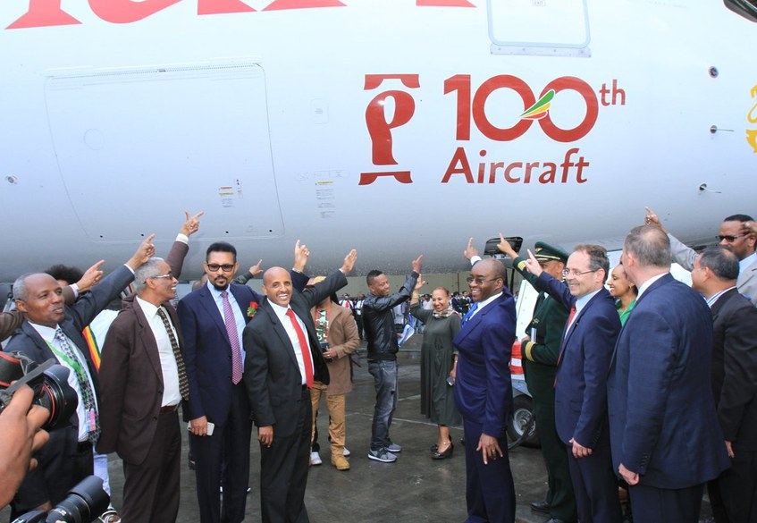 ET: 100th aircarft arrival