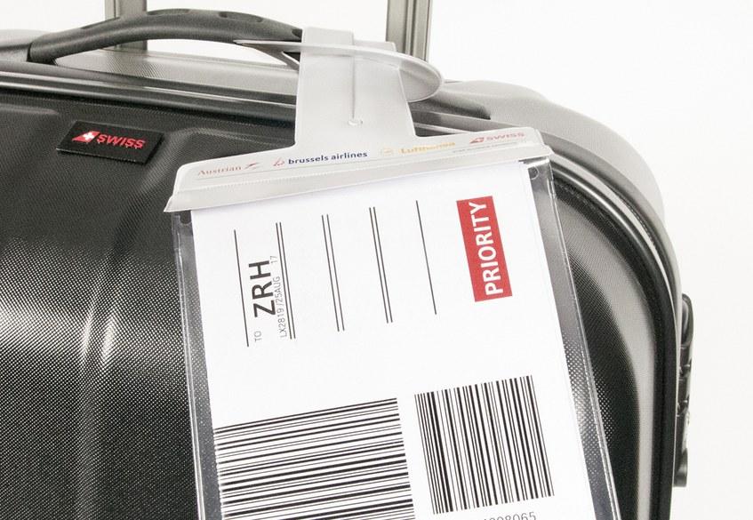 SWISS print-at-home bag tag