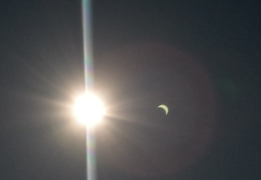 Solr eclipse from the sky with LH